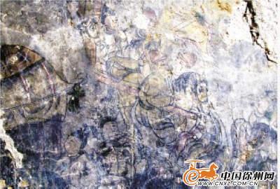 利国一道观发现大型古壁画 颇有唐宋遗风