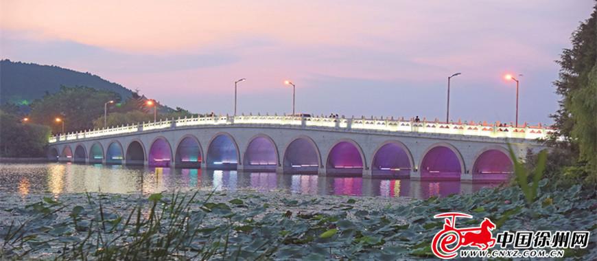 云龙湖的桥,千姿百态